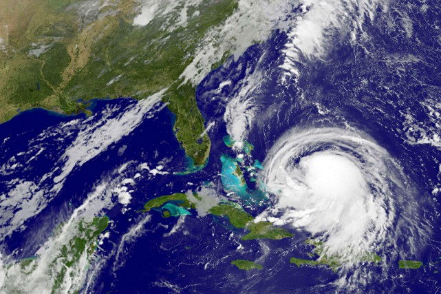 Joaquinest pour le moment un ouragan de catégorie1... (IMAGE AFP/NASA)