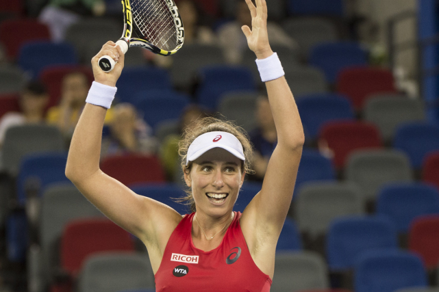 La Britannique Johanna Konta.... (Photo Fred Dufour, AFP)