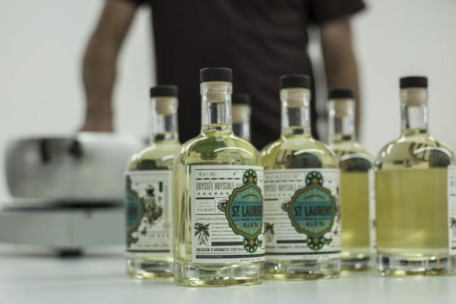 Le gin de la microdistillerie du St-Laurent.... (Photo fournie par la microdistillerie du St-Laurent.)