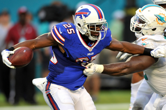 LeSean McCoy souffre d'une blessure à la cuisse... (Photo Steve Mitchell, USA Today)