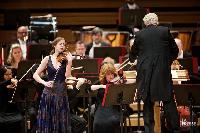 La soliste, la jeune Norvégienne Vilde Frang, nous... (PHOTO ANDRÉ PICHETTE, LA PRESSE)