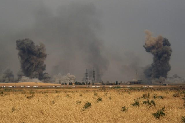 Au moins 40 djihadistes de l'EI ont été... (PHOTO AP)