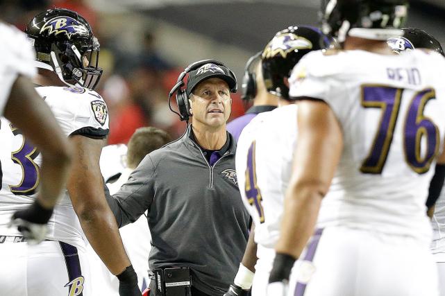 Avec une fiche de 0-3, les Ravens de... (Photo Brynn Anderson, AP)