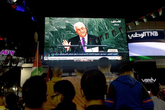 Mahmoud Abbas a affirmé devant l'ONU que la... (PHOTO AP)