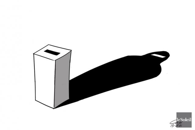 Caricature du 1er octobre... (Le Soleil, André-Philippe Côté)