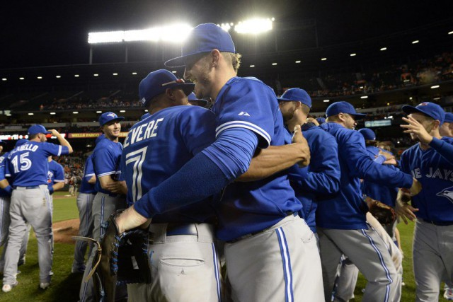 Les Blue Jays de Toronto sont champions de la section est de la Ligue... (PHOTO REUTERS)