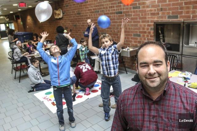 Des activités pour enfants ont été organisées au... (Patrick Woodbury, LeDroit)