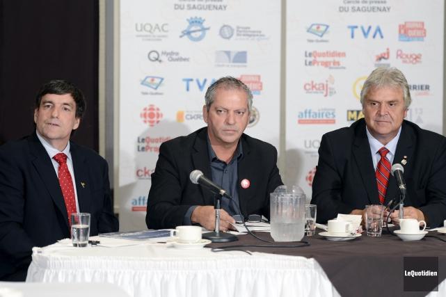 Invités du Cercle de presse du Saguenay, hier... (Archives Le Quotidien, Jeannot Lévesque)