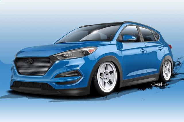 Le Hyundai Tucson est un placide multisegment très pratique pour déplacer la... (Illustration fournie par Hyundai)
