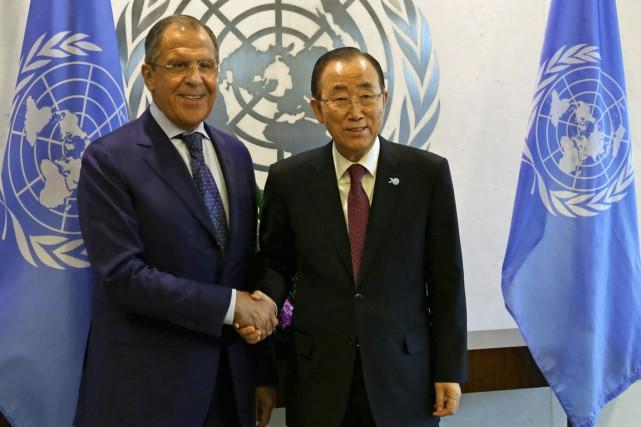 Le ministre des Affaires étrangères russe Sergueï Lavrov... (Photo Adam Hunger, AP)