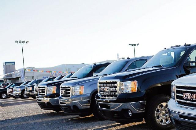 La demande pour les camionnettes a fait grimper les ventes de véhicules... (Archives)