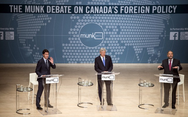Le débat de l'institut Munk, tout comme ceux... (Photo Nathan Denette, Reuters)