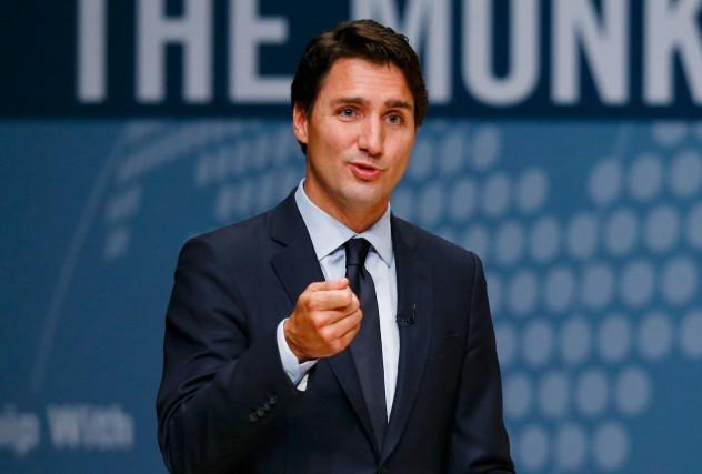 Justin Trudeau, dans cette lutte à trois, mise... (PHOTO MARK BLINCH, REUTERS)