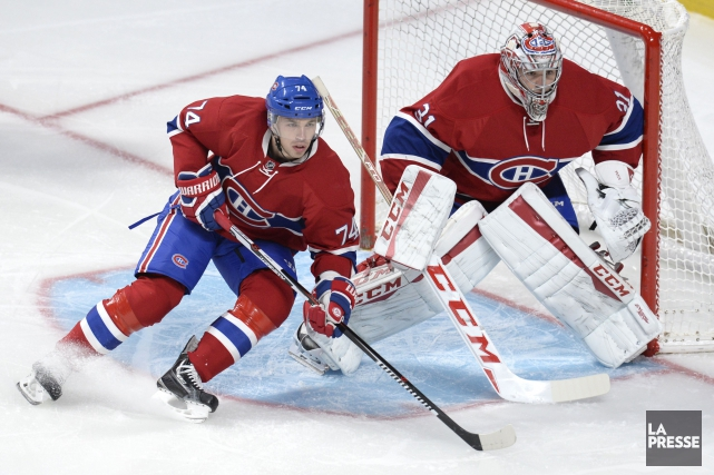 Alexei Emelin et Carey Price... (Photo Bernard Brault, La Presse)