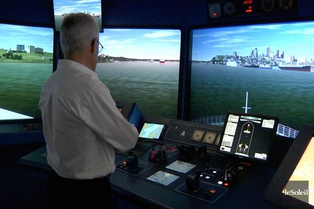 Le Centre de simulation et d'expertise maritime de la Corporation des pilotes... (Le Soleil, Frédéric Matte)
