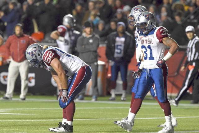 La défensive des Alouettes n'en menait pas large... (La Presse Canadienne, Sean Kilpatrick)