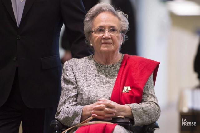 L'ex-lieutenante-gouverneure générale Lise Thibault passera le week-end derrière... (Photo: La Presse Canadienne)