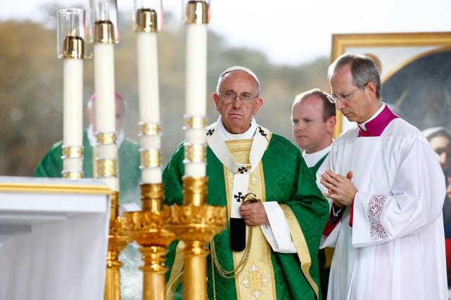 Durant son séjour aux États-Unis, le pape François... (PHOTOTONY GENTILE, ARCHIVES ASSOCIATED PRESS)