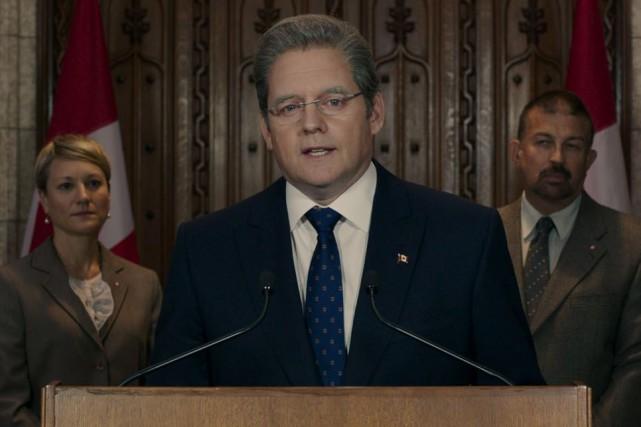 Paul Doucet incarne le premier ministre du Canada... (PHOTO FOURNIE PARCHRISTAL/SÉVILLE)
