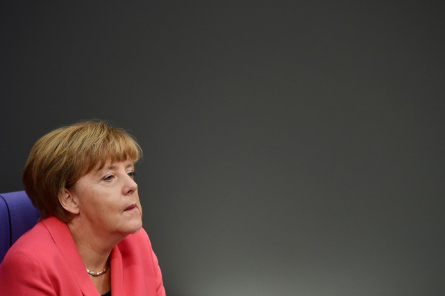La chancelière allemande Angela Merkel.... (PHOTO JOHN MACDOUGAL, ARCHIVES AFP)