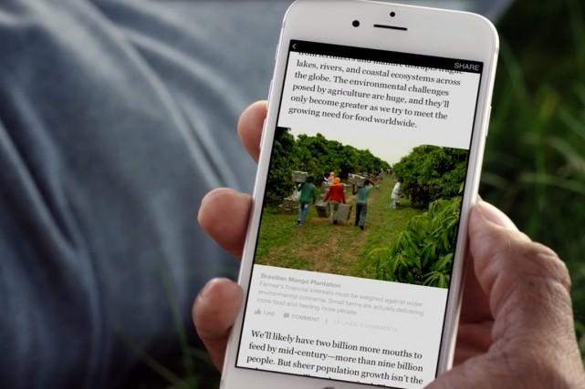 Mi-mai, Facebook avait dévoilé un logiciel baptisé Instant... (IMAGE TIRÉE D'UNE VIDÉO)