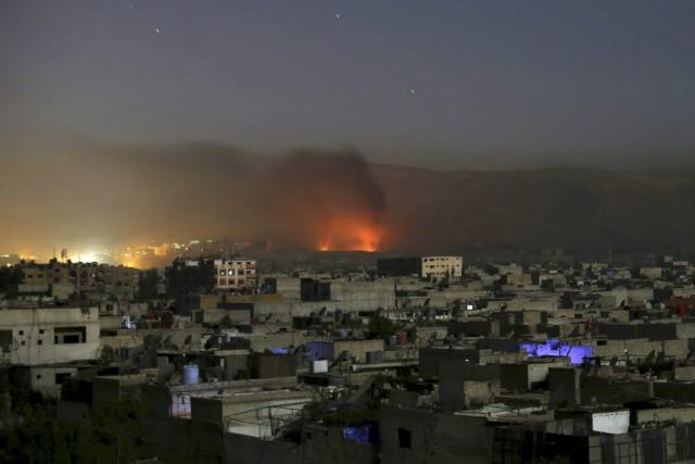 Des combats ont opposé les forces loyales au... (PHOTO BASSAM KHABIEH, REUTERS)