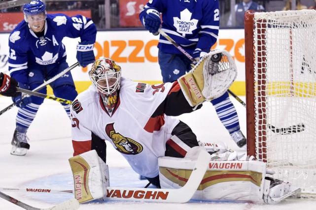 Le gardien Andrew Hammond va amorcer la saison... (Nathan Denette, Archives La Presse Canadienne)