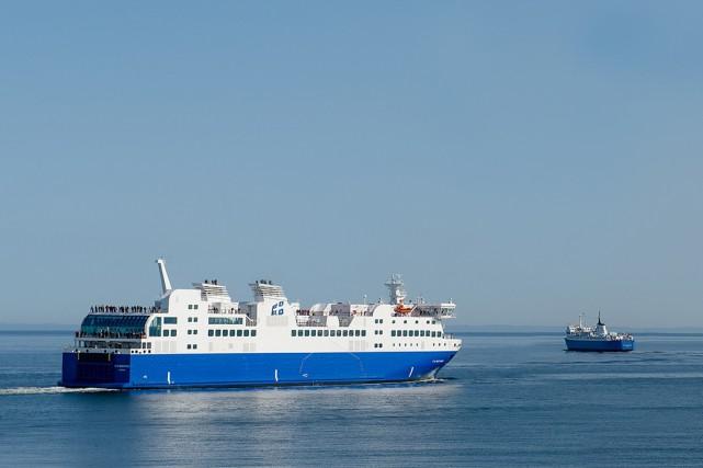 Le NM F.-A.-Gauthier, qui effectue la traversée Matane-Baie-Comeau-Godbout... (Société des traversiers du Québec)