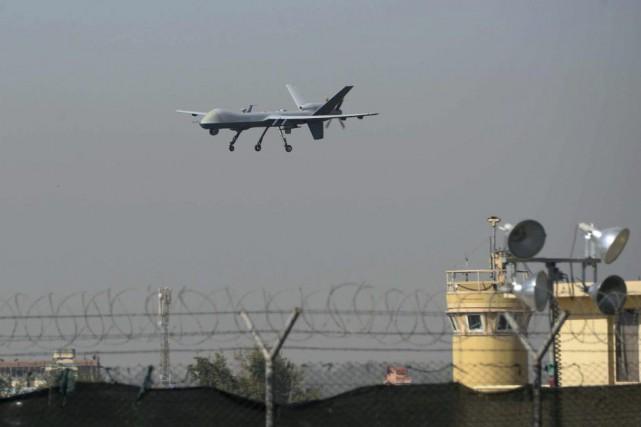 Un drone militaire américain atterrit à l'aéroport deJalalabad,... (Noorullah Shirzada)