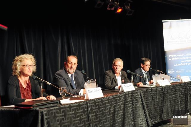 Les candidats dans Lac-Saint-Jean ont participé à un... (Photo Le Quotidien, Gimmy Desbiens)