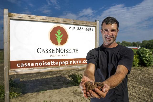 Marc-Olivier Harvey, propriétaire de la Pépinière Casse-Noisette de... (Photo: Stéphane Lessard)
