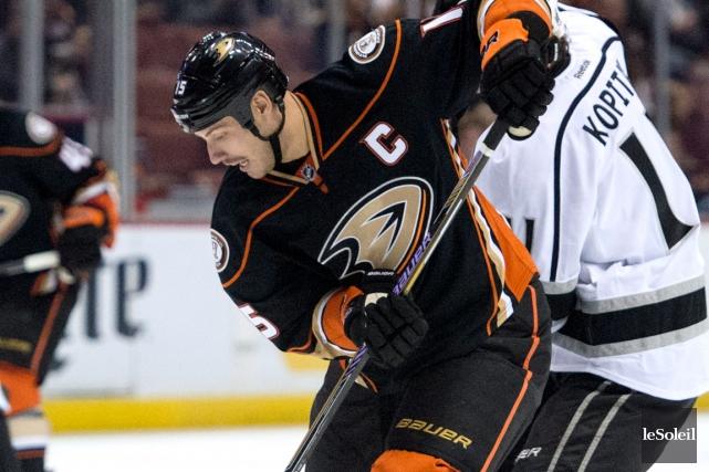 Ryan Getzlaf et les Ducks d'Anaheim sont les... (Photothèque Le Soleil)