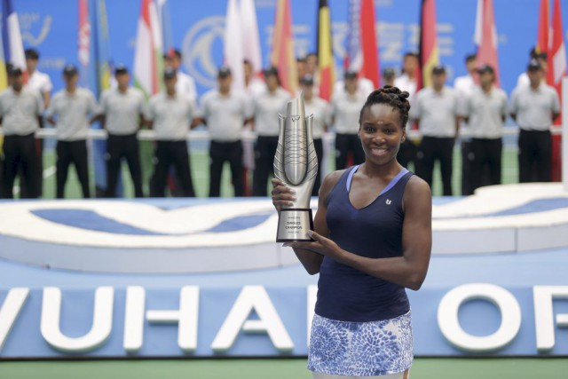 Venus Williams... (PHOTO REUTERS/CHINA DAILY)