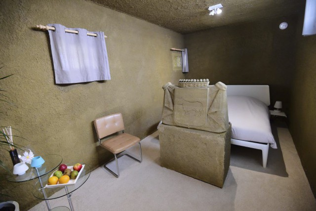 Abritant une seule et unique chambre, ce château... (PHOTO EMMANUEL DUNAND, AFP)