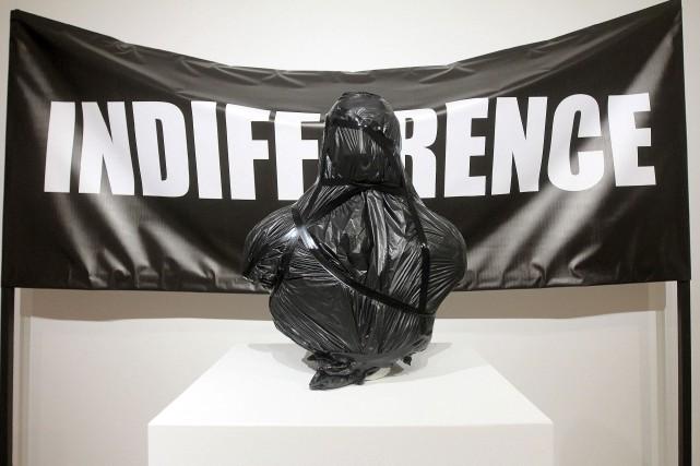 Une oeuvre signée par Guillermo Trejo: un buste... (Etienne Ranger, LeDroit)