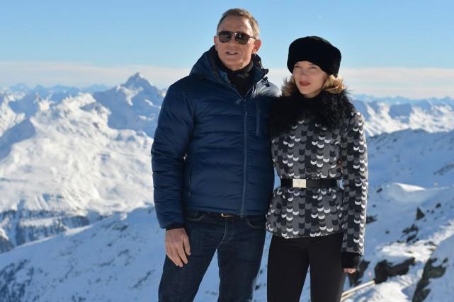 Daniel Craig et Léa Seydoux lors du tournage... (AP, Kerstin Joensson)