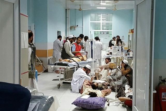 Une image relayée par Médecins Sans Frontieres montre... (AFP, MSF)