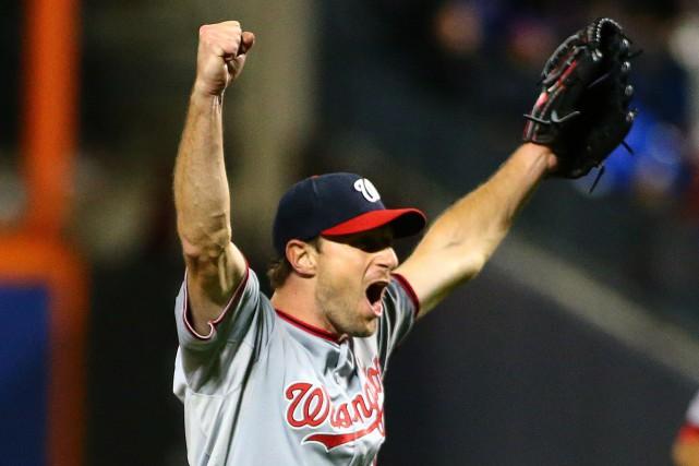 Scherzer a retiré neuf frappeurs sur des prises... (Photo Andy Marlin, USA Today)