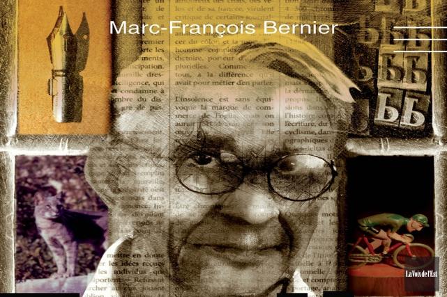Marc-François Bernier rend hommage à l'un des chroniqueurs... (Archives La Voix de l'Est)