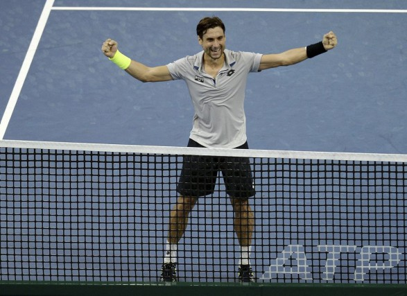 David Ferrer... (PHOTO MANAN VATSYAYANA, AFP)
