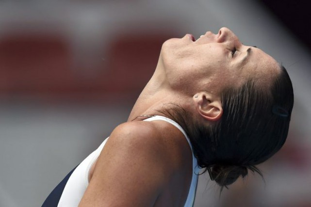 Flavia Pennetta... (PHOTO GREG BAKER, AFP)