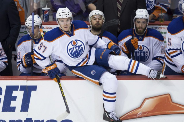 Connor McDavid (97) tentera d'amener les Oilers en séries... (PHOTO DARRYL DYCK, PC)