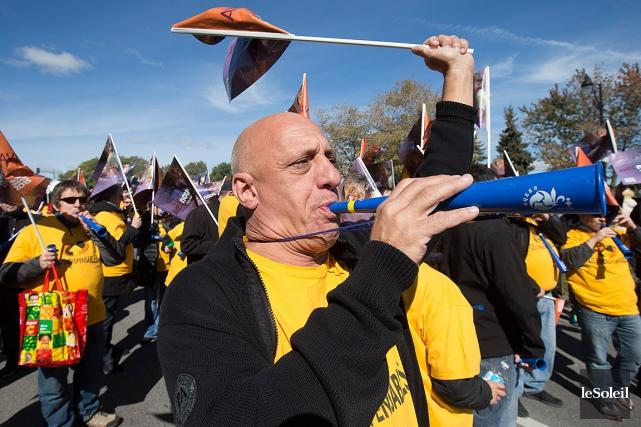 Le Front commun avait organisé une grande manifestation... (Photothèque Le Soleil)