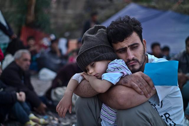 Quelque 630 000 personnes sont entrées illégalement en... (Photo Muhammed Muheisen, AP)