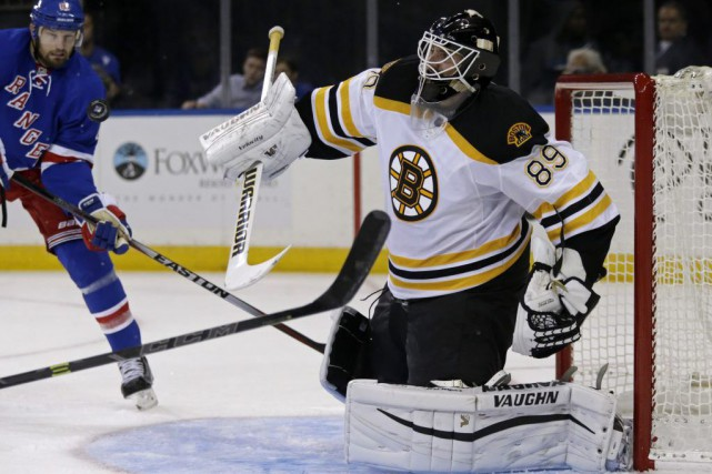 Jonas Gustavsson a participé au camp des Bruins... (Photo Adam Hunger, AP)