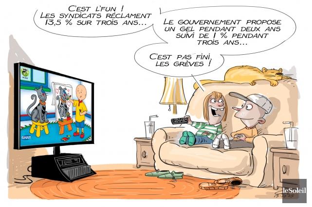 Caricature du lundi 5 octobre 2015... (Le Soleil, André-Philippe Côté)