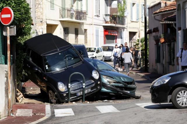Les dégâts matériels n'ont pas pu être chiffrés... (PHOTO AFP)
