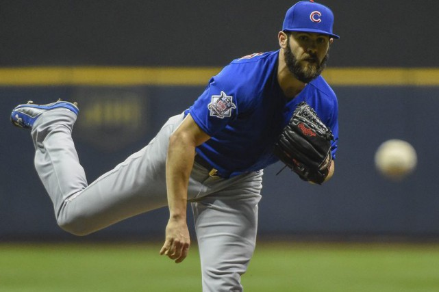 Jake Arrieta (22-6) sera le partant pour les... (Photo Benny Sieu, USA TODAY Sports)