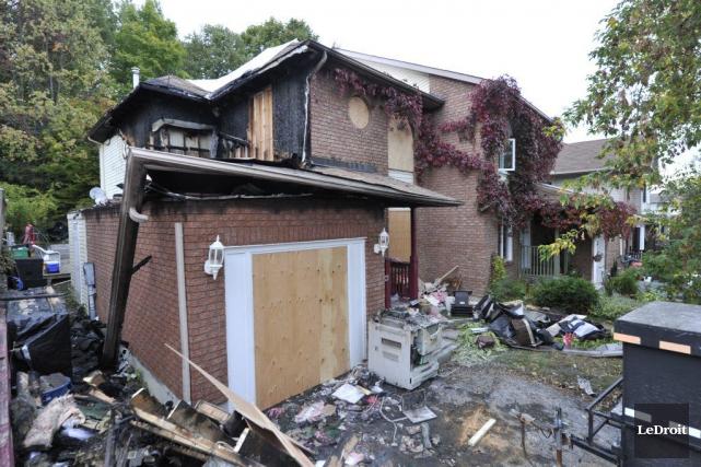 Des flammes ont pris naissance dans une résidence du quartier Manoir des... (Martin Roy, LeDroit)