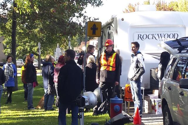 L'équipe du réalisateur Stéphan Parent était de passage... (Photo: courtoisie: Stéphan Parent)